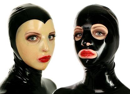 Latexová maska s velkými otvory