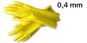 Gumové rukavice - tloušťka 0,4 mm