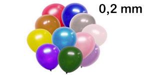 Nafukovací balónky - tloušťka latexu 0,2 mm