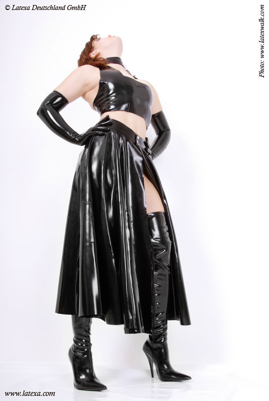 Latexová sukně - la3047