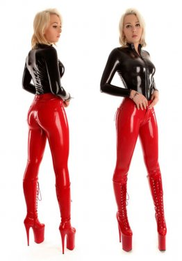 Latexový top - SO-B-TOP-5; Latexové džíny - SO-B-JEAN-D