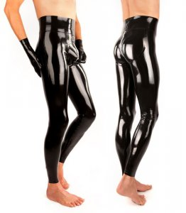 "Pánské latexové legíny ""Push-Up"" - SO-B-PUSH-UP-HWH"