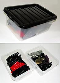 Úložné boxy na latex