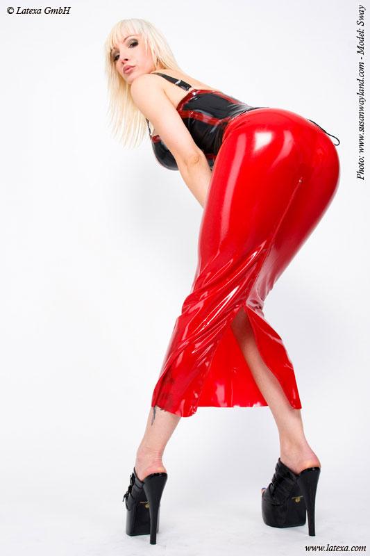 Latexová sukně - la1220