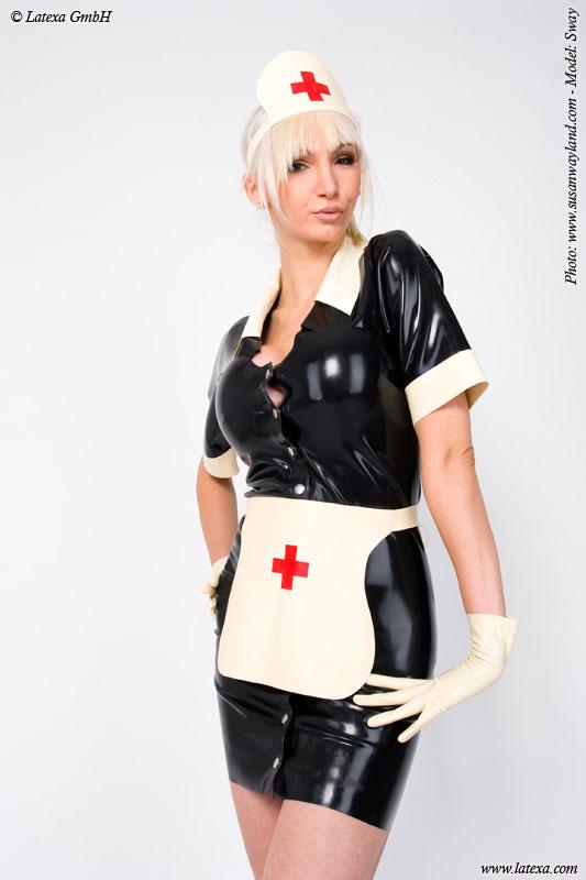 Latexové šaty - Zdravotní sestra - la3059