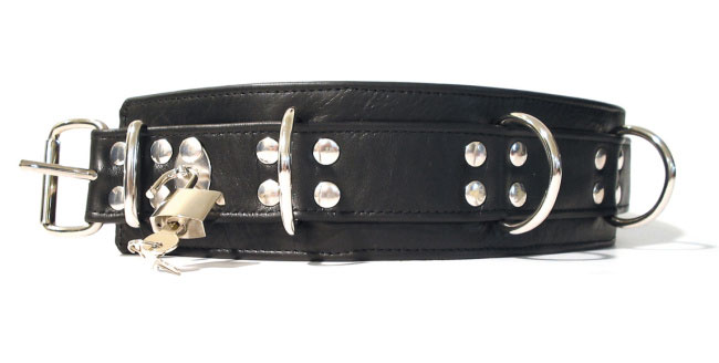 Kožený obojek uzamykatelný - bs43506