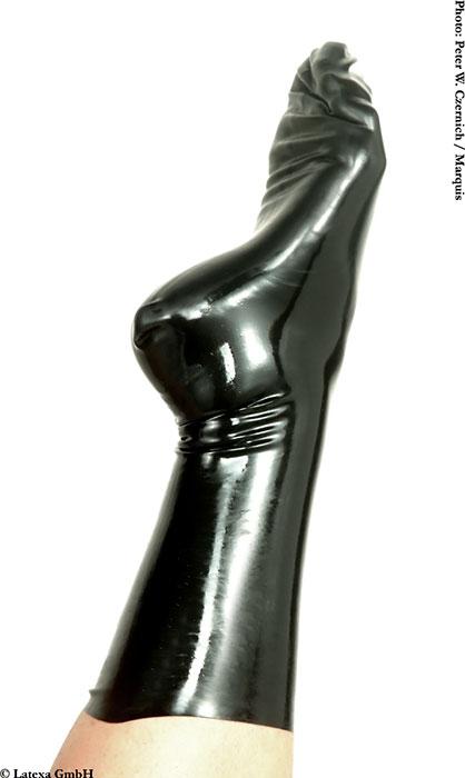 Latexové ponožky - la1163 (XXL, černé)