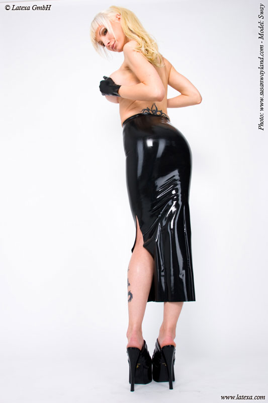 Latexová sukně - la1186