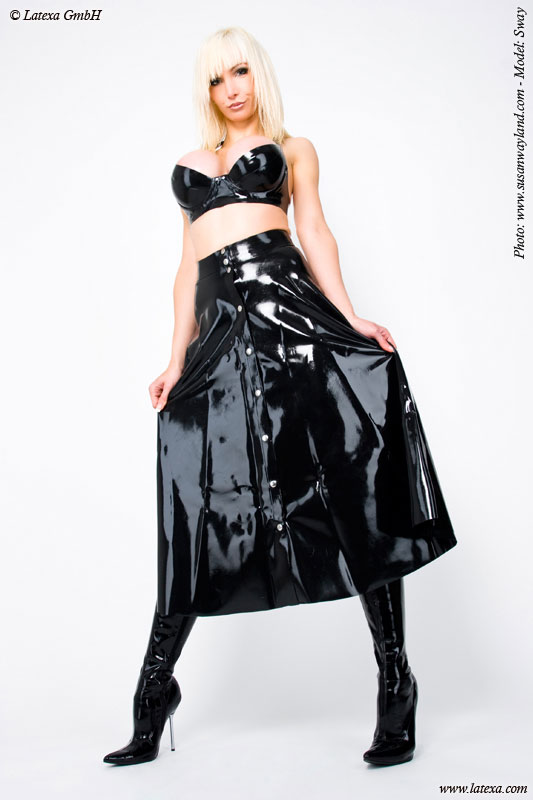 Latexová sukně - la3038