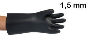 Chemické rukavice - tloušťka 1,5 mm