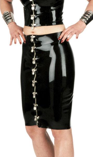 Latexová sukně se zámečky - bs03011