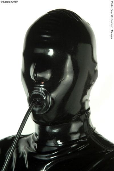 Latexová maska s roubíkem - la1202